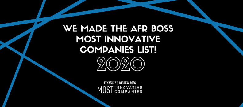 We Placed #3 On The 2020 AFR Most Innovative Health Company List